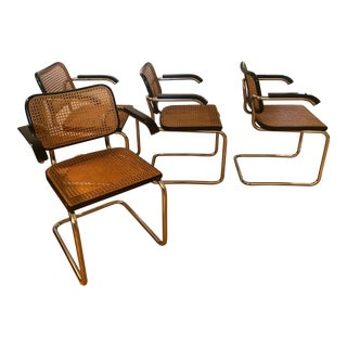 Knoll Gavina Marcel Breuer Cesca Chairs - Set of 4 For Sale