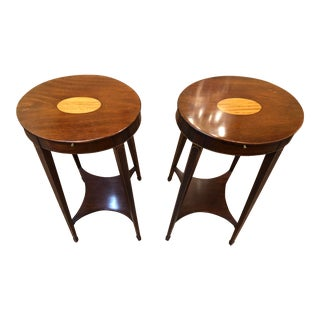 1990s Traditional Kindel Mahogany Side Tables - a Pair For Sale