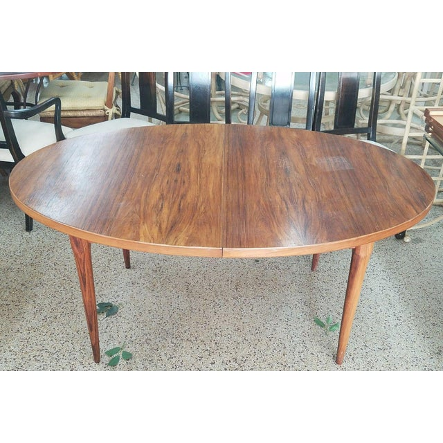 1960's Danish Mid-Century Modern Style Rosewood Dining Table For Sale - Image 12 of 12