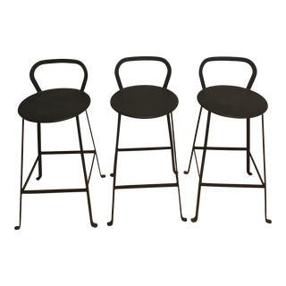 Ballard Cast Iron Counter Stools - Set of 3