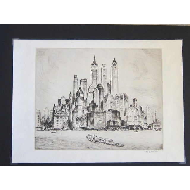 This wonderful original etching, circa 1940, captures the artist's fascination with New York City. Created decades before...