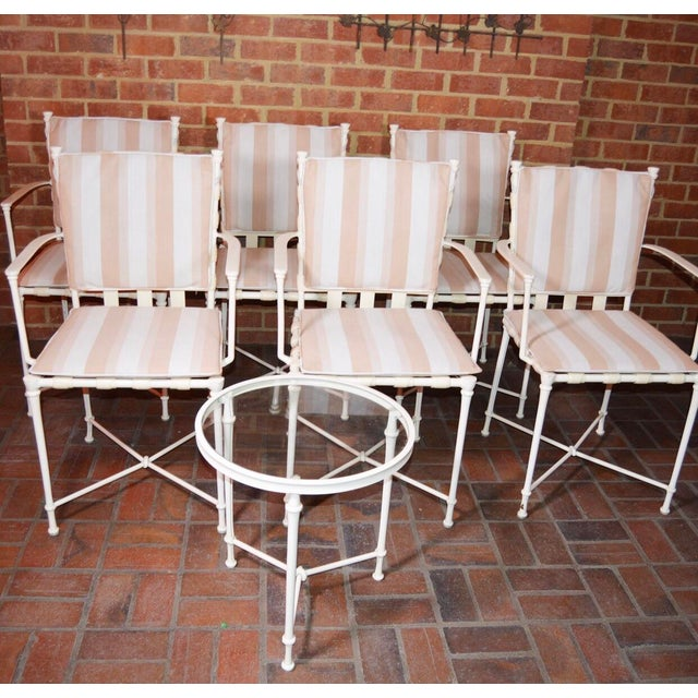 Vintage Brown Jordan Outdoor Cast Metal Patio Table and Chairs For Sale - Image 10 of 13