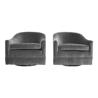 Pair of Harvey Probber Swivel Lounge Chairs For Sale