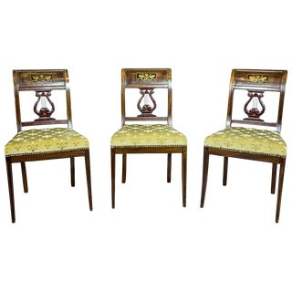 Empire Mahogany Chairs Circa 1810 - Set of 3 For Sale