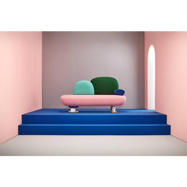 Toadstool Collection Ensemble Sofa, Table and Puffs, Masquespacio For Sale - Image 9 of 13