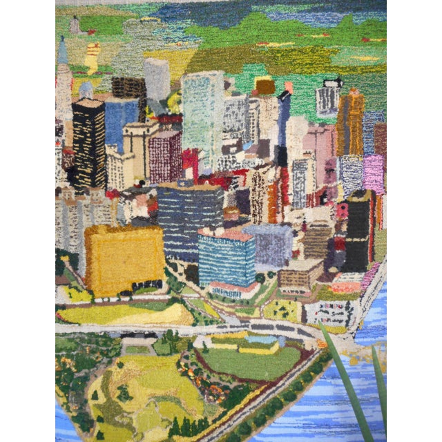 1960s Hand Woven Heinz Pittsburgh Pennsylvania Tapestry Fibre Art Wall Hanging For Sale - Image 9 of 12