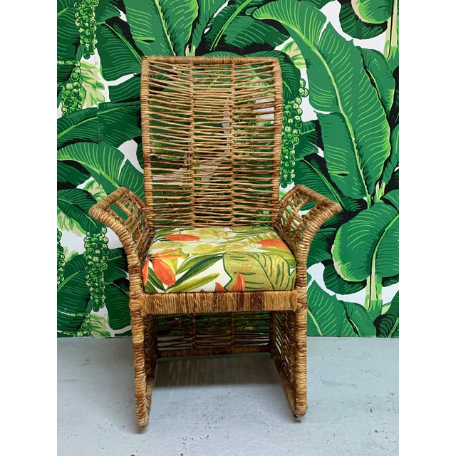 Rattan Jute Rope Wrapped Dining Chairs, Set of 6 For Sale - Image 6 of 13