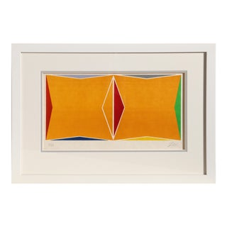 Larry Zox, Framed Geometric Silkscreen For Sale