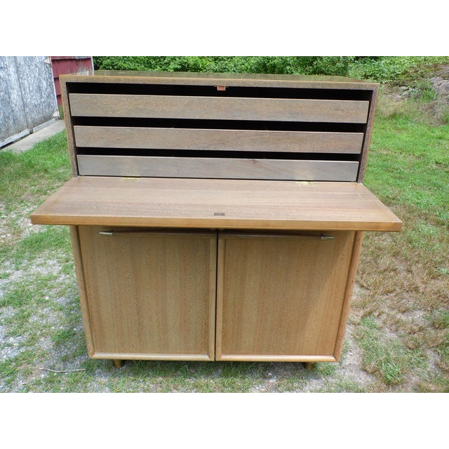Vintage Mid Century Modern High Boy Dresser Chest of Drawers John Keal Brown Saltman For Sale - Image 9 of 13