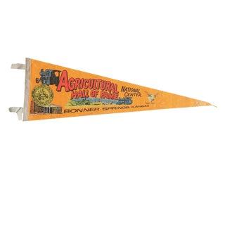 Vintage Agricultural Hall of Fame Felt Flag Pennant