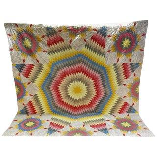 Vintage Handmade Star Quilt For Sale