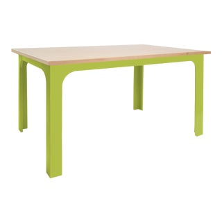 "Craft Kids 42"" Table in Birch With Green Finish For Sale"