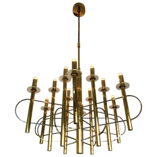 Chandelier by Sciolari, Italy, 1970s For Sale