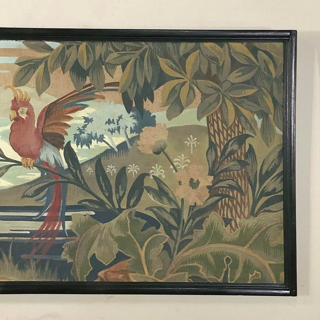 Art Deco Period Flemish Framed Tapestries-a Pair For Sale - Image 10 of 13