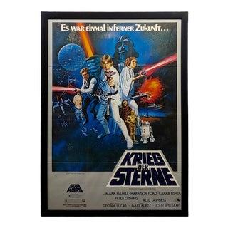 Original 1977 German Movie Poster of Star Wars by Krieg Der Stern For Sale