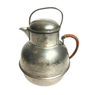 Vintage Small Lidded Pewter Creamer