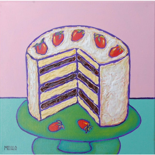Small Pop Art Mixed Media Strawberry Cake by Tom Melillo For Sale - Image 4 of 4