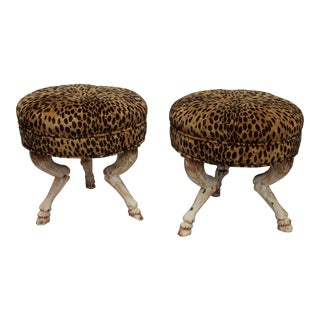 Pr. Highly Decorative of French Stools 20c.