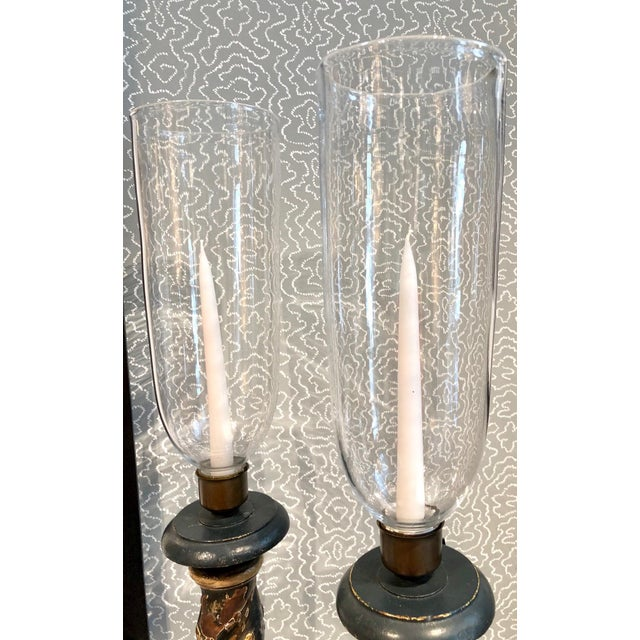 Baroque Venetian Polychromed Candleholders, Late 18th Century, Pair For Sale - Image 3 of 5