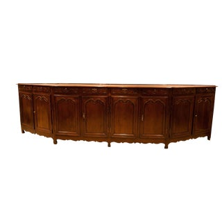 Italian Louis XV Style Elm Enfilade For Sale