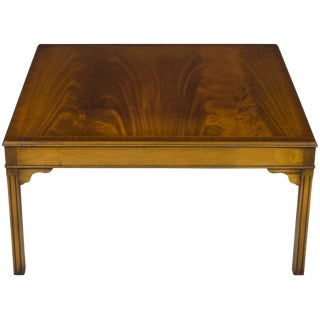 Antique Mahogany Square Coffee Table For Sale