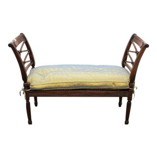 1990s Vintage Regency Style Window Bench For Sale