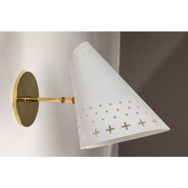 1950s 1950s Danish Perforated Sconces Attributed to Bent Karlby - a Pair For Sale - Image 5 of 13