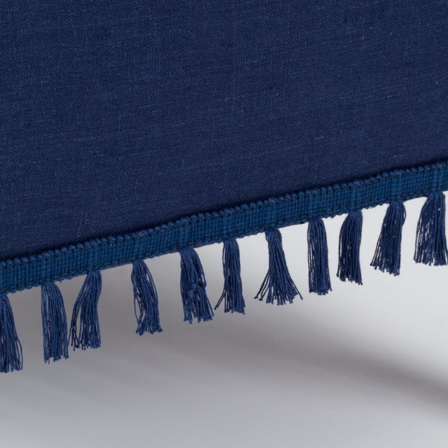 Textile Casa Cosima Sintra Chair in Cadet Blue Linen, a Pair For Sale - Image 7 of 10