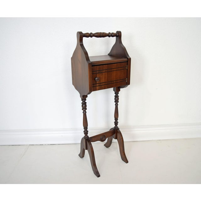 1900's Vintage Sewing Storage Side Table For Sale - Image 13 of 13