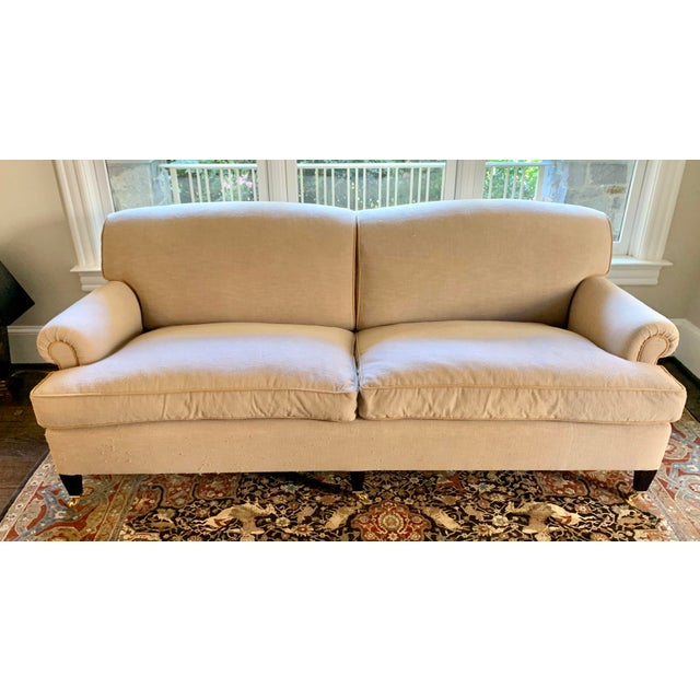 Contemporary George Smith Tan Sofa For Sale - Image 3 of 3