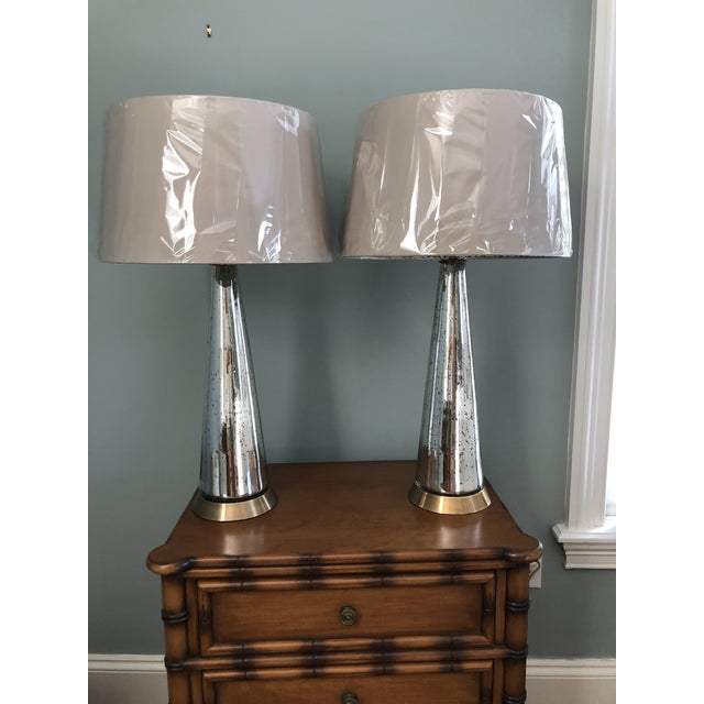 Arterior Tapered Gold Iridescent Lamps - a Pair For Sale - Image 6 of 6