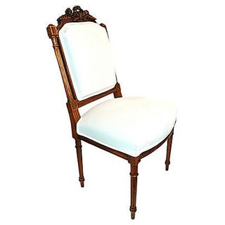 French Carved Side Chair For Sale