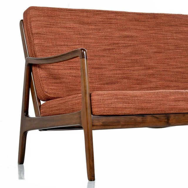 Danish Loveseat Settee Sofa by Ole Wanscher for France & Daverkosen For Sale In Tampa - Image 6 of 9