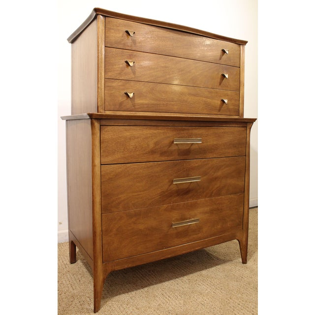 Mid-Century Danish Modern Drexel Dateline John Van Koert Tall Chest - Image 3 of 11