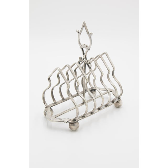 Early 20th Century Antique English Silver Plate Toast Rack For Sale - Image 5 of 8