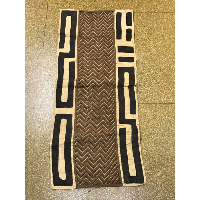 African Handwoven Kuba Cloth Panel - Image 2 of 6