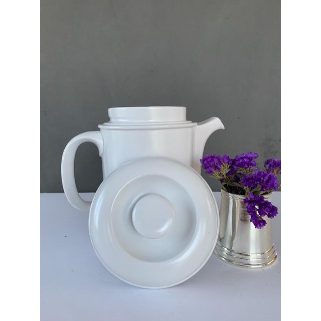 Vintage Flammfest Thomas Rosenthal Germany Tea Coffee Pot White For Sale In New York - Image 6 of 6