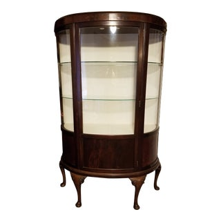 Antique Walnut Display Cabinet For Sale