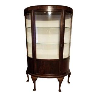 Antique Walnut Display Cabinet For Sale