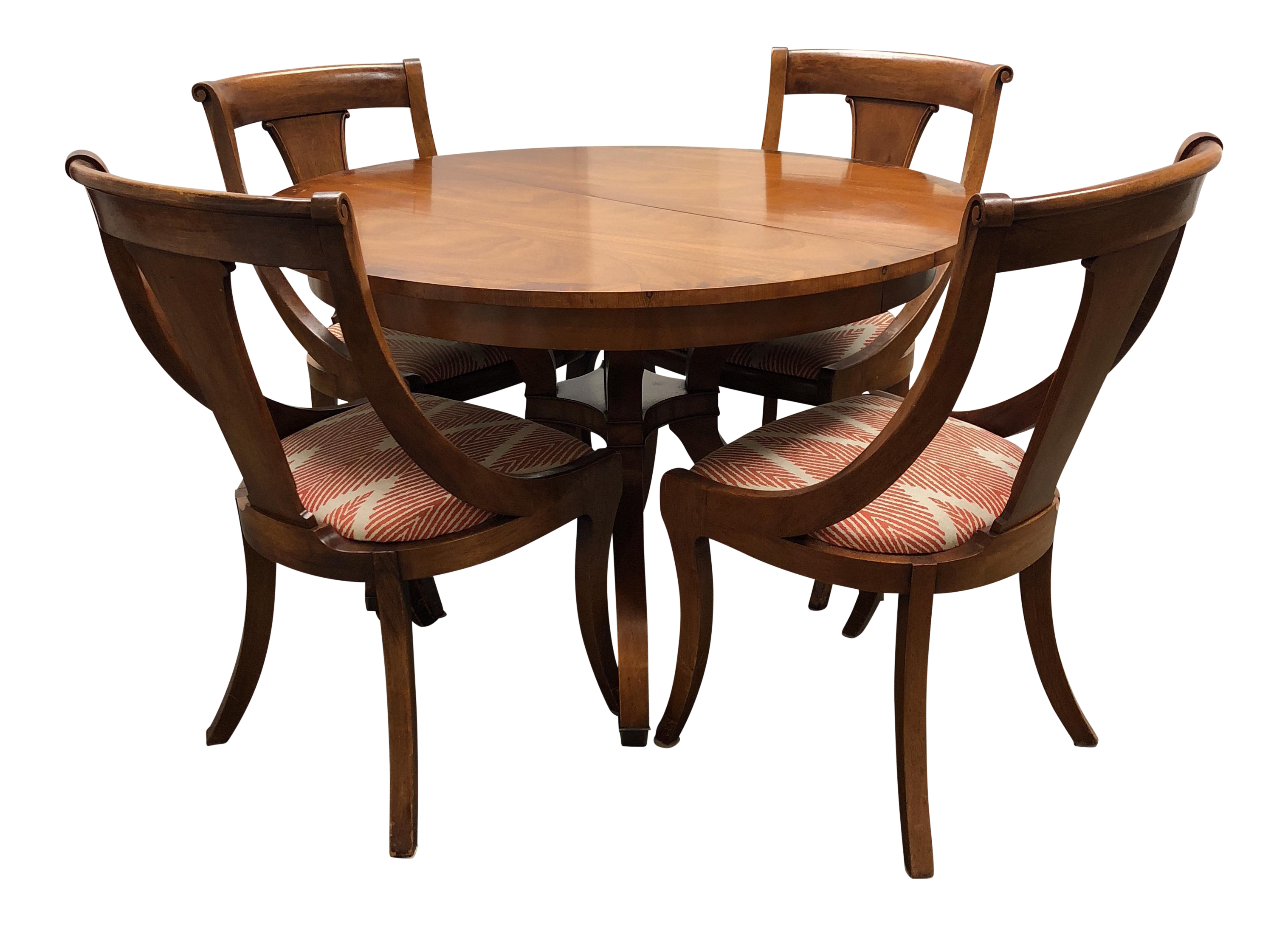 Wonderful Vintage Wood Dining Table + Four Chairs   Dining Set   Image 1 Of 7