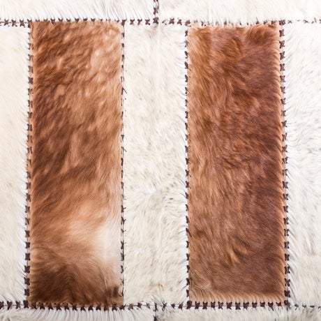 """Aydin Cowhide Patchwork Accent Area Rug - 6'0"""" x 6'7"""" - Image 6 of 9"""