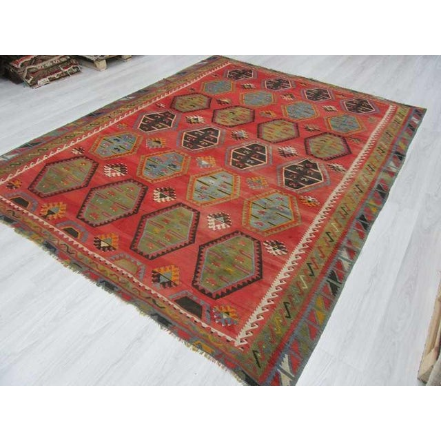 Vintage Turkish Handwoven Kilim Rug 8 2 Quot X 10 4 Quot Chairish