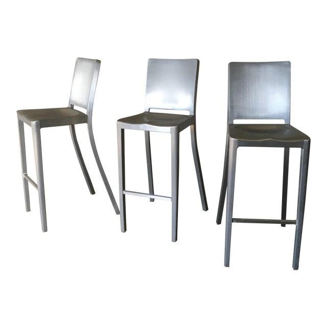 Philippe Starck for Emeco Hudson Bar Stools - Set of 3 - Image 1 of 10