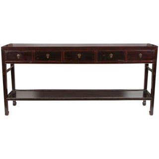 18th Century Five-Drawer Chinese Scholar's Table For Sale
