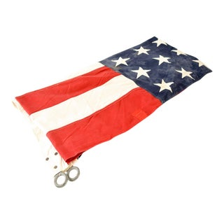 Huge Vintage 48 Star Cloth American Flag For Sale