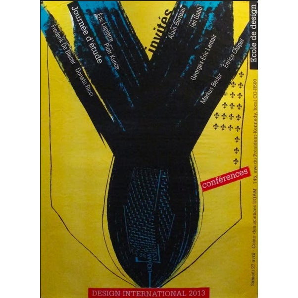 Contemporary 2013 Original Design International Poster, (Yellow) - Alfred Halasa For Sale - Image 3 of 3