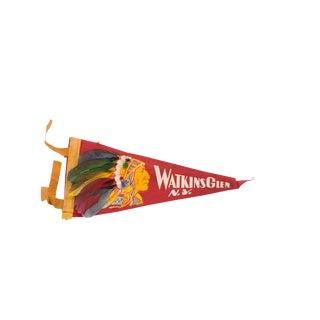 Red Watkins Glen NY Felt Flag For Sale