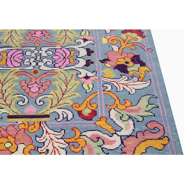 Tribal 1990s Vintage Handwoven Area Rug- 6′8″ × 9′7″ For Sale - Image 3 of 11