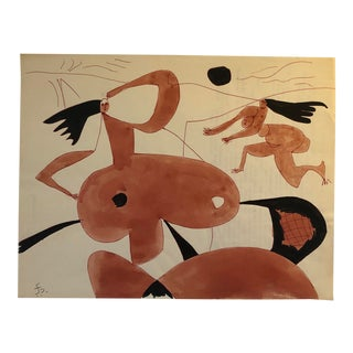 Mid-Century Modern Figures by James Bone 1970 For Sale