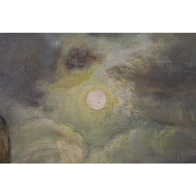 Late 19th Century Oil on Board Seascape Painting For Sale In Seattle - Image 6 of 11